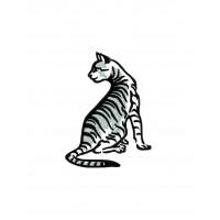 Дизайн машинной вышивки Кот Тигра скачать