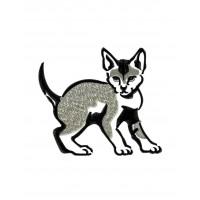 Дизайн машинной вышивки Серый котёнок скачать