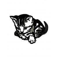Дизайн машинной вышивки Задумчивый котенок скачать