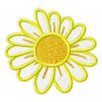 Дизайн машинной вышивки Ромашка жёлтая скачать