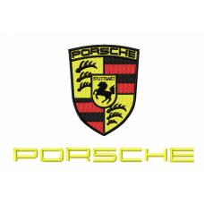 Дизайн машинной вышивки Эмблема Porsche скачать