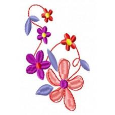 Дизайн машинной вышивки Цветок на лосины скачать