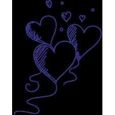 Дизайн машинной вышивки Сердца 01 скачать