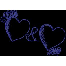 Дизайн машинной вышивки Сердца 03 скачать