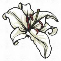 Дизайн машинной вышивки Цветок лилии скачать