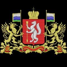 Дизайн машинной вышивки Свердловская область герб скачать