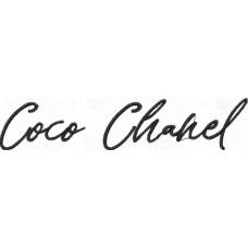 Дизайн машинной вышивки Chanel Coco  скачать