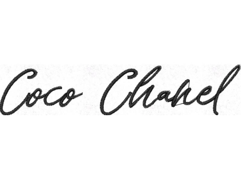 Дизайн машинной вышивки Вышивка Chanel Coco  скачать