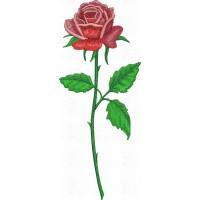 Дизайн машинной вышивки Роза скачать