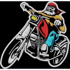 Дизайн машинной вышивки Мотоциклист на байке скачать
