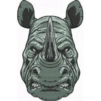 Дизайн машинной вышивки Носорог свирепый скачать
