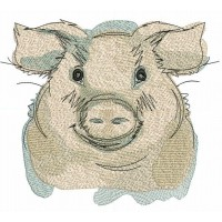 Дизайн машинной вышивки Свинья скачать