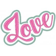 """Дизайн машинной вышивки Стикер """"Love"""" скачать"""