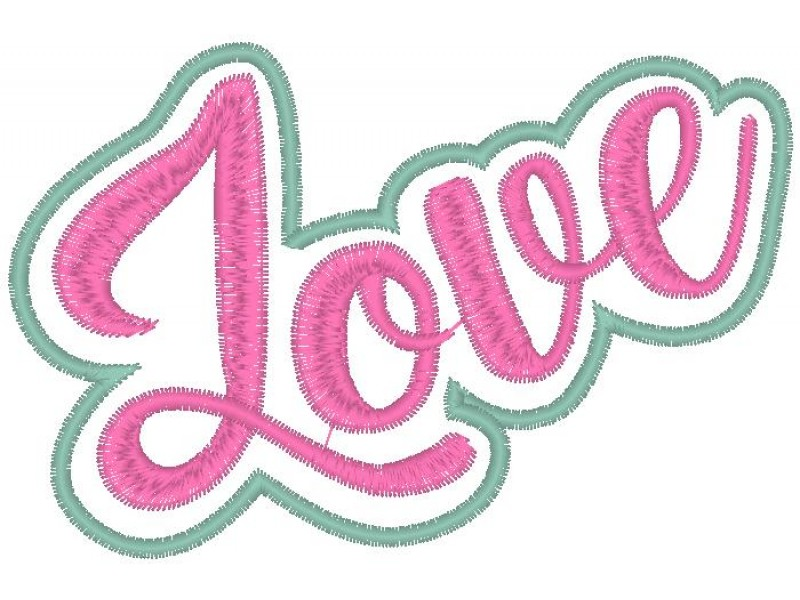 """Дизайн машинной вышивки Вышивка Стикер """"Love"""" скачать"""
