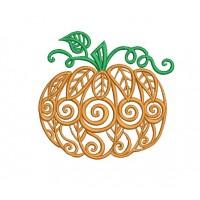 Дизайн машинной вышивки Золотая тыква скачать