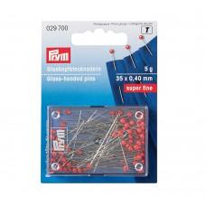 Булавки Prym для тонких тканей, 35х0,40мм (5г)  029700