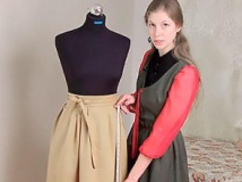 Видеокурс Видеокурс по шитью: Пошив юбки-татьянки с поясом и подкладкой скачать