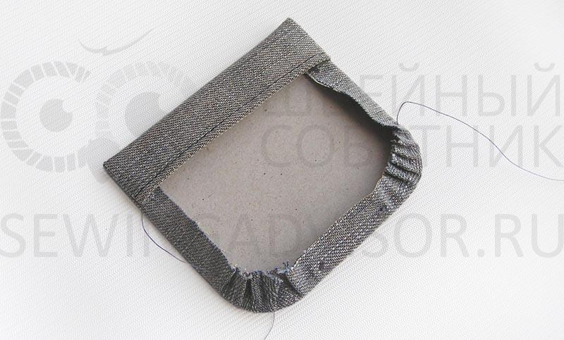 Припуски округлого кармана стяните