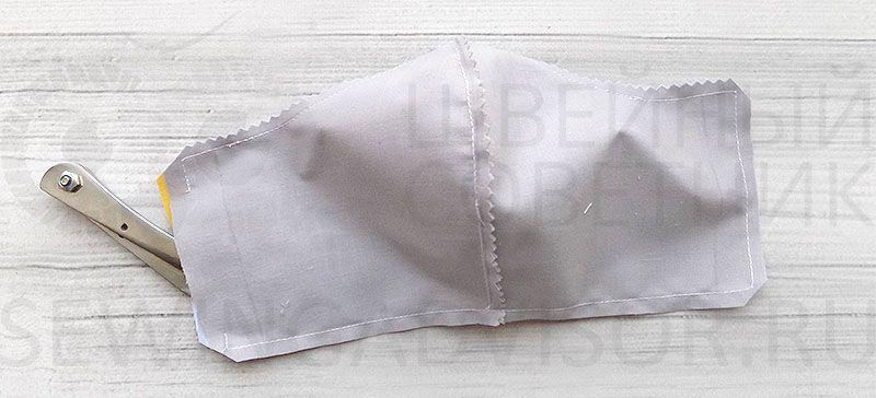 сшить защитную маску из ткани выкройка
