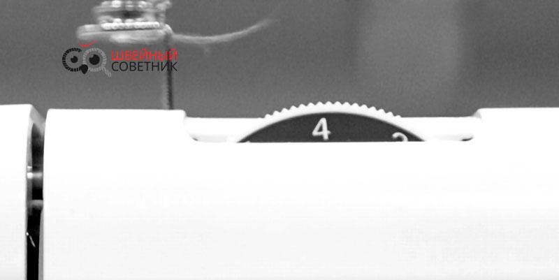 Обрыв нитки из-за натяжения нити