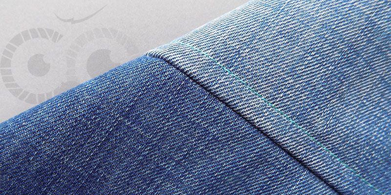 Запошивочный шов на джинсе