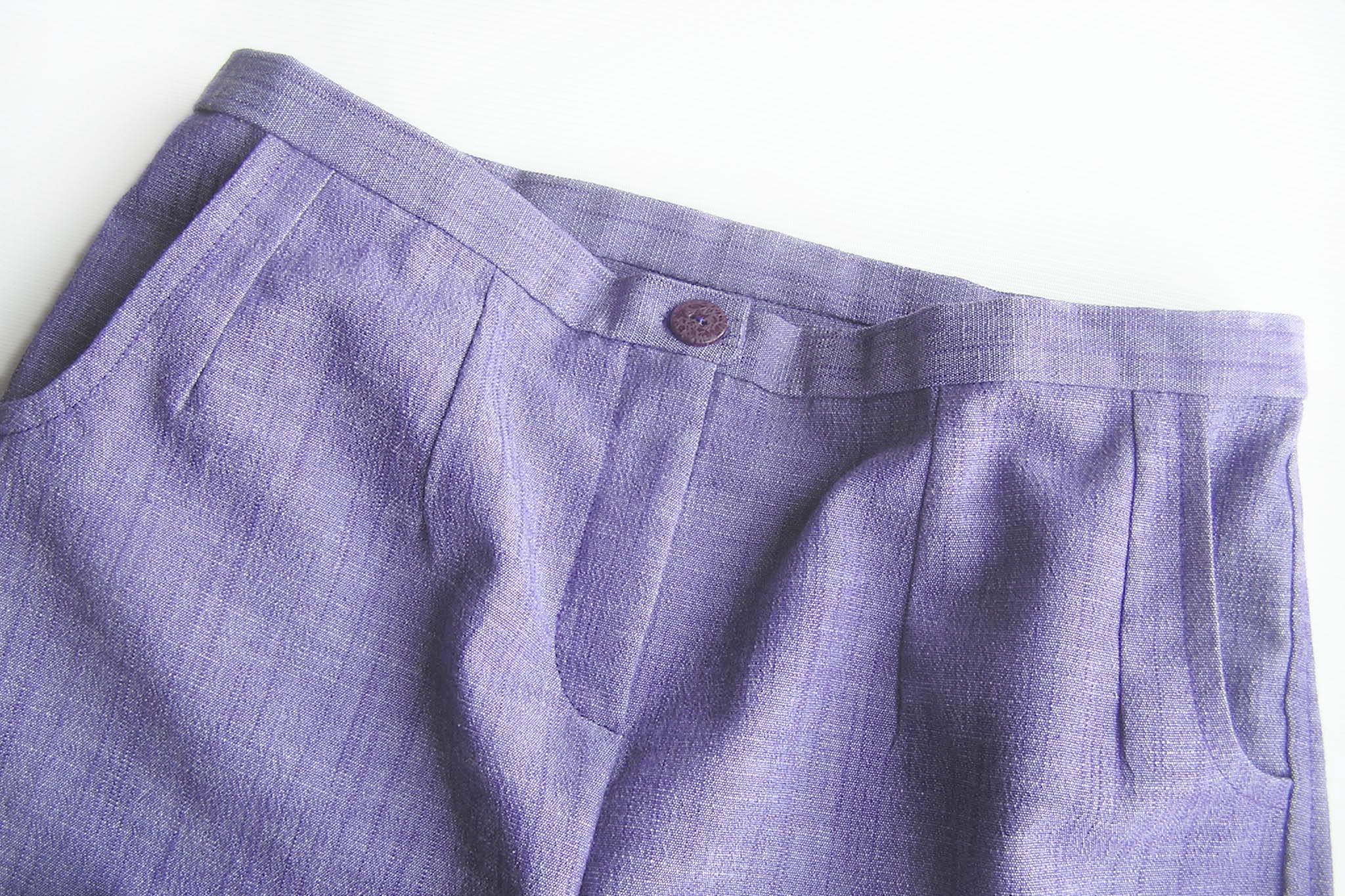 Женские брюки с карманами и застежкой-молнией