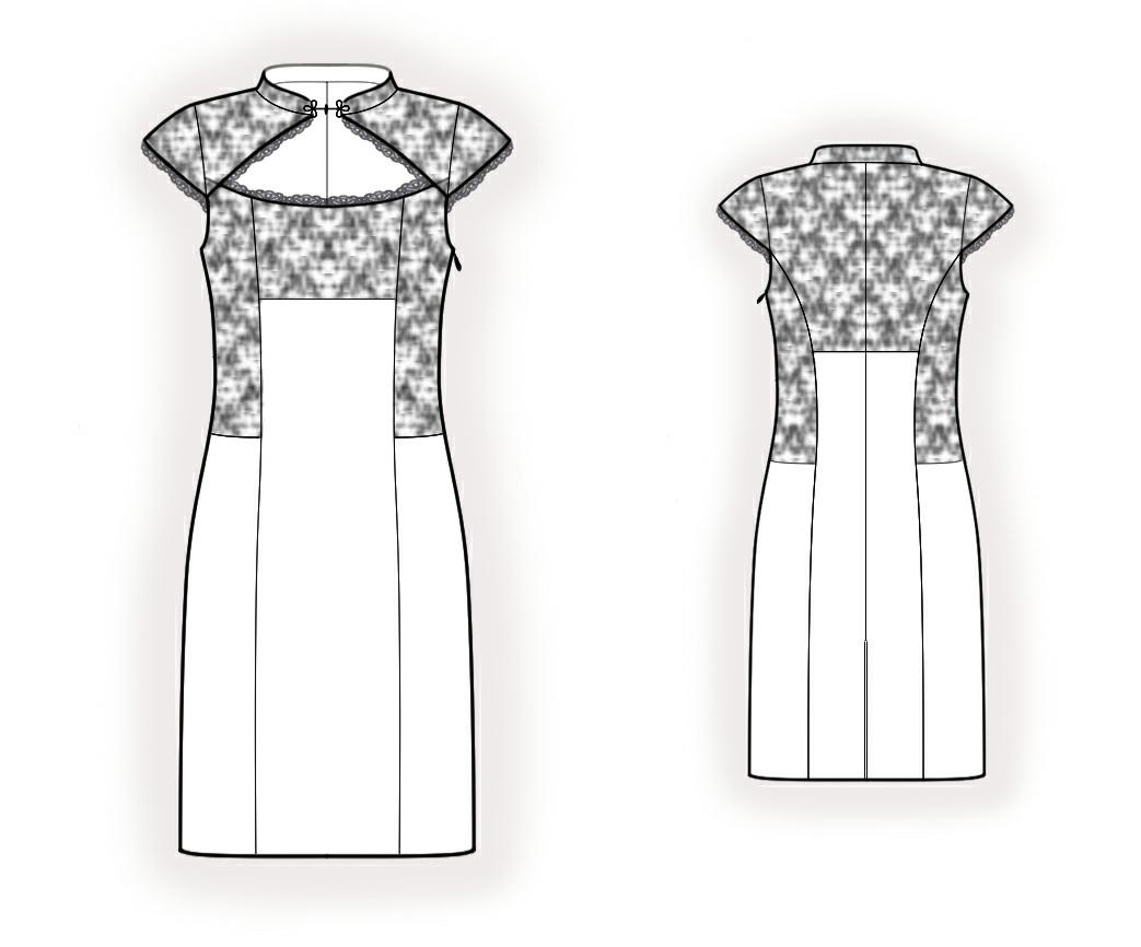 Кружевные платья выкройки
