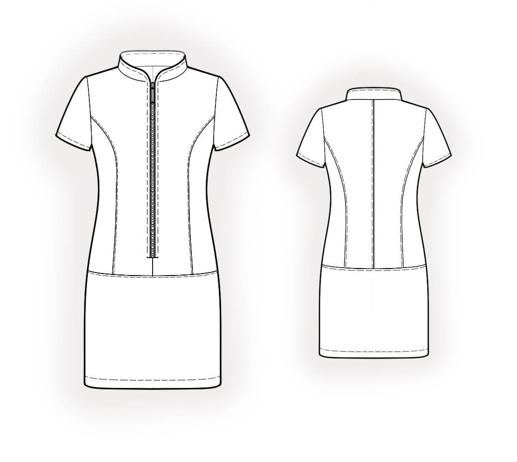 Как сшить спортивного стиля платье