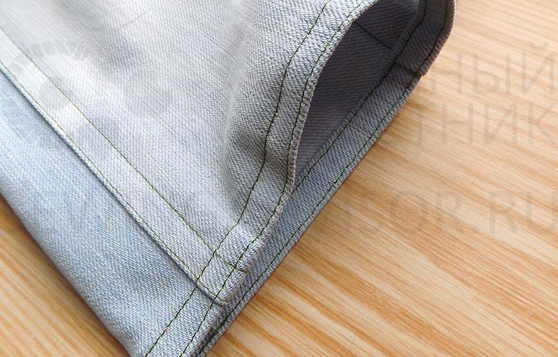 Отстрочите низ штанин двойной строчкой