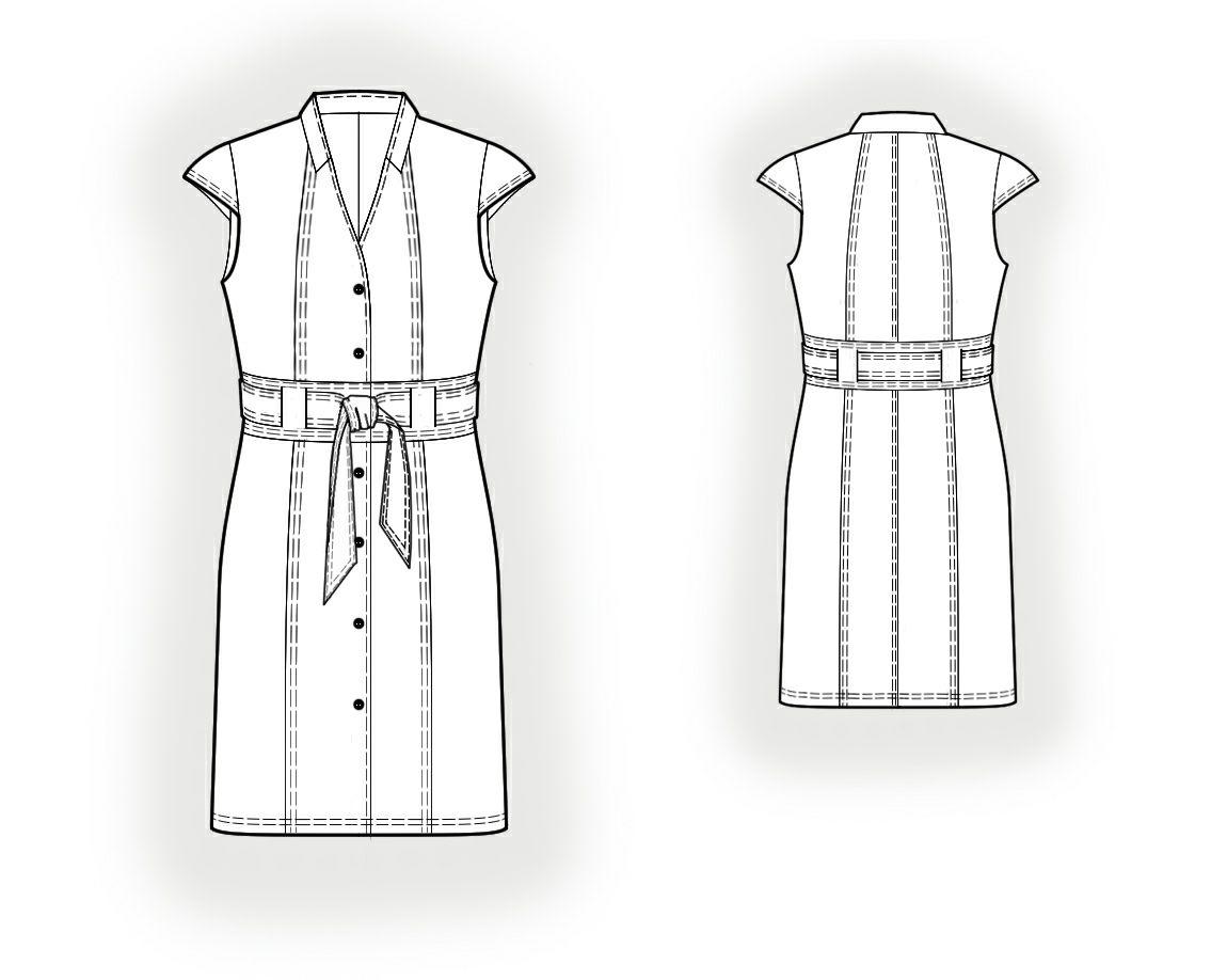 Фото и выкройка платьев с пуговицах